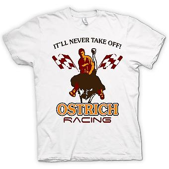 Mens T-shirt - Ostrich Racing Never Take Off - Funny