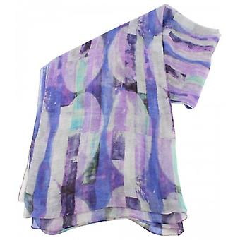 Bassin and Brown Vanilla Abstract Stripe Cotton Scarf  - Purple/Lilac
