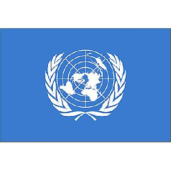 UN (United Nations) Flag 5ft x 3ft With Eyelets