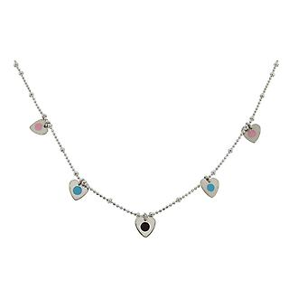 Orphelia argento 925 collana 42cm con cuori pendenti ZK-2636