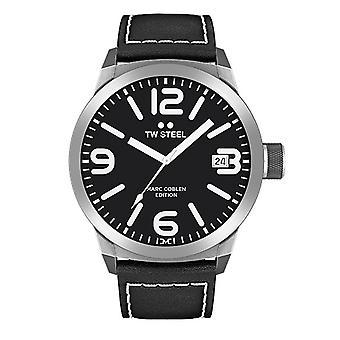 TW stål mens klocka Marc Coblen Edition TWMC29 wrist watch läderarmband