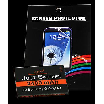 Battery + 4 x film for Samsung GT-i9300 Galaxy S3