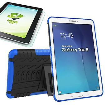 Hybrid outdoor bag blue for Samsung Galaxy tab E 9.6 SM T560 + 0.4 tempered glass