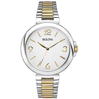 Bulova Women's Two Tone Stainless Steel Watch 98 L 194 van de jurk