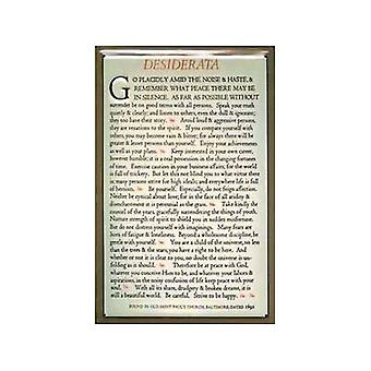Desiderata Embossed Steel Wall Sign 300Mm X 200Mm