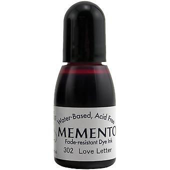 Memento Dye Ink Refill .5oz-Love Letter