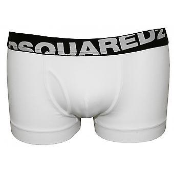 DSquared2 Angled Logo Low-Rise Boxer Trunk, White/black