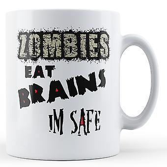 Zombier spise hjernen jeg sikker - trykt krus