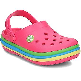 Universel de 205205PARADISEPINK Rainbow bande Boucher crocs Skate shoes enfant