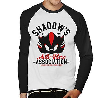 Shadows Anti Hero Association Sonic Men's Baseball Long Sleeved T-Shirt