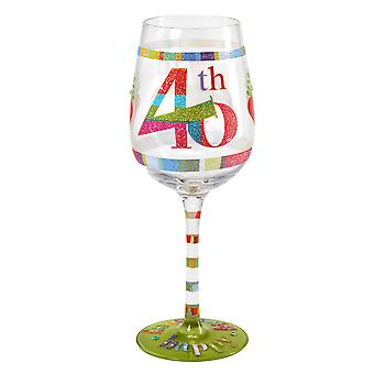 Here's To You 40th Birthday Wine Glass