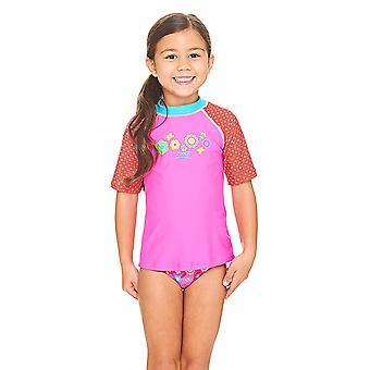 Zoggs Flora Short Sleeve UPF 50+ Sun Top Pink