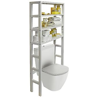 Hartland - Over Toilet Bathroom Storage Unit With 4 Shelves - White