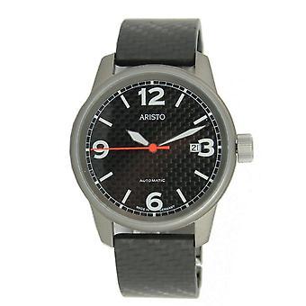 Aristo Men's clock Titan Carbon Auto 5H83