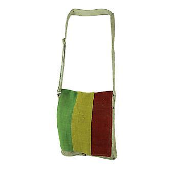 自然な日焼けラスター フロント編まれた有機麻クロスボディ バッグ