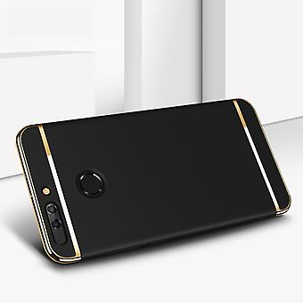 Cell phone cover case for Huawei honor 9 bumper 3 in 1 cover chrome black