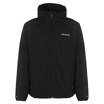 Columbia Mens Whisper Softshell Jacket Top Coat Water Resistant High Neck Zip