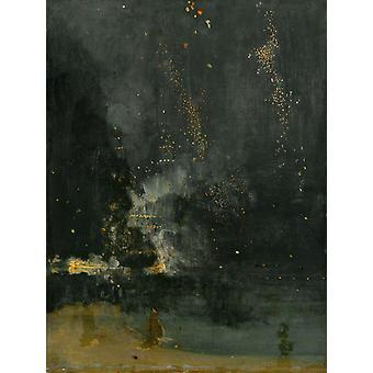 Nocturne in Black and Gold,James Abbott McNeil Whistler,50x40cm
