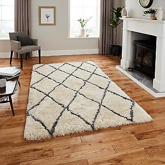 Marocko tror 2491 elfenben grå rektangel mattor Plain/nästan slätt mattor