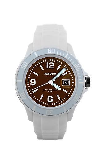 Waooh - Watch MONACO 34 White Dial Color