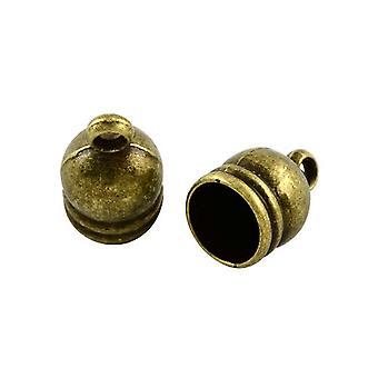 Packet 20 x Antique Bronze Tibetan Bell-Shape End Caps 9 x 14mm Y02530
