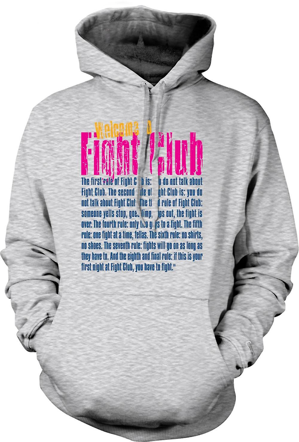 Mens Hoodie - Welcome to Fight Club - Funny Quote