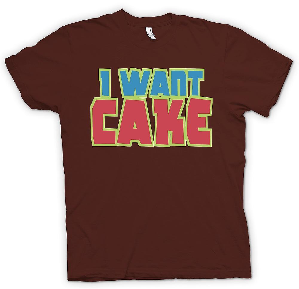 Mens t-skjorte - jeg vil kake - kul morsom
