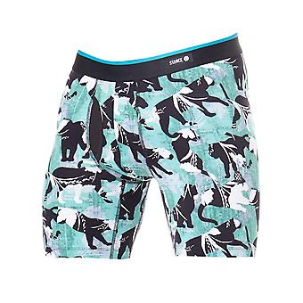 Stance Green Combed Cotton Panthers Boxer Shorts