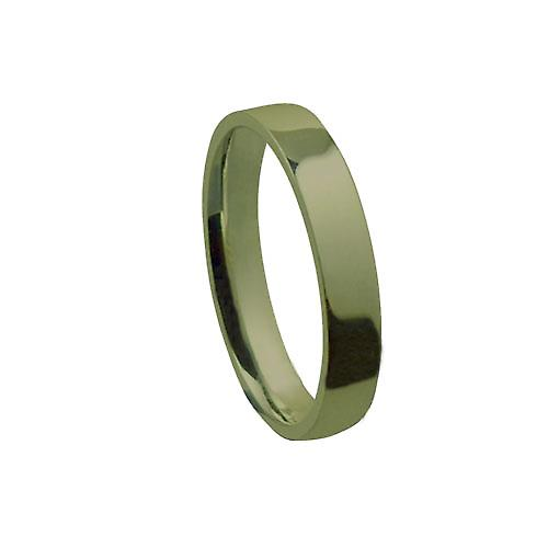 9ct Gold 4mm plain flat Court shaped Wedding Ring Size Z