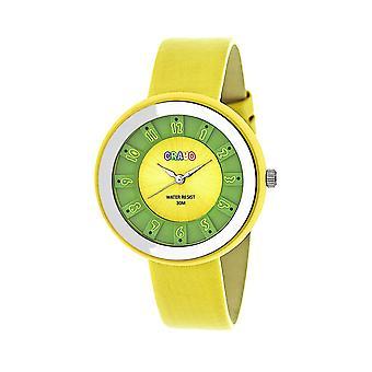 Crayo Celebration Unisex Watch - Yellow