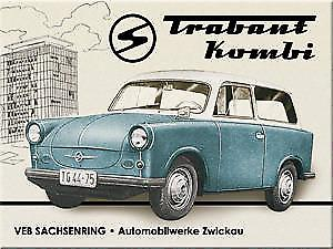 Trabant Kombi metal fridge magnet