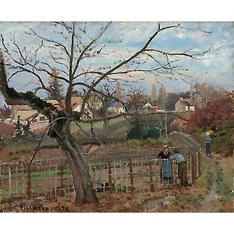 The Fence La barriere,Camille Pissarro,50x40cm