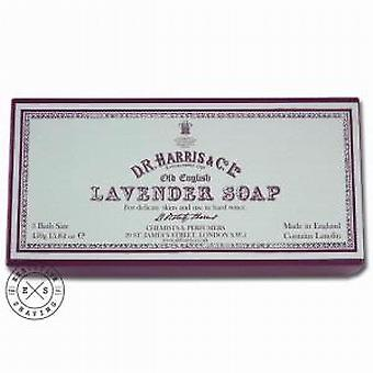 D R Harris Old English Lavender Bath Soap 3 x 150g