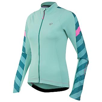 Pearl Izumi Aqua Mint Stripe Elite Pursuit Thermal Womens Long Sleeved Cycling J