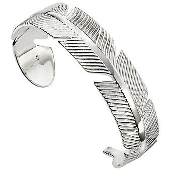 Beginnings Feather Bangle - Silver