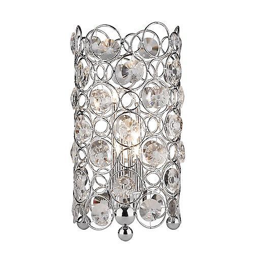 Dar GEN4050 Geneva 6 Light Halogen Crystal Table Lamp