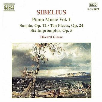 J. Sibelius - Sibelius: Piano Music Vol. 1 [CD] USA import
