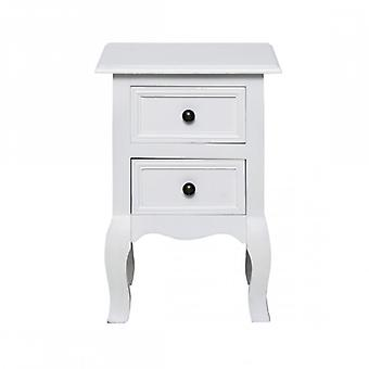 Rebecca Furniture nightstand 2 drawers white glossy wood baroque bedroom bedrooms