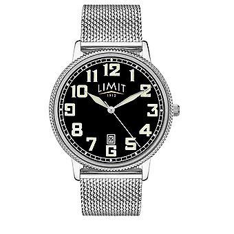 Limit | Mens Stainless Steel Mesh Bracelet | Black Dial | 5748.01 Watch