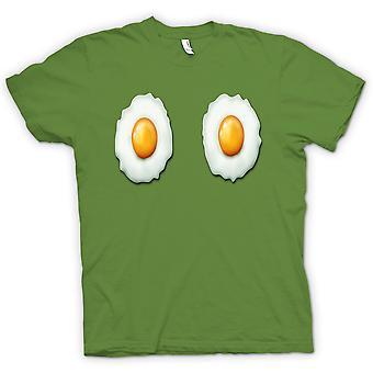 子供の t シャツ、目玉焼きのおっぱい - おかしい