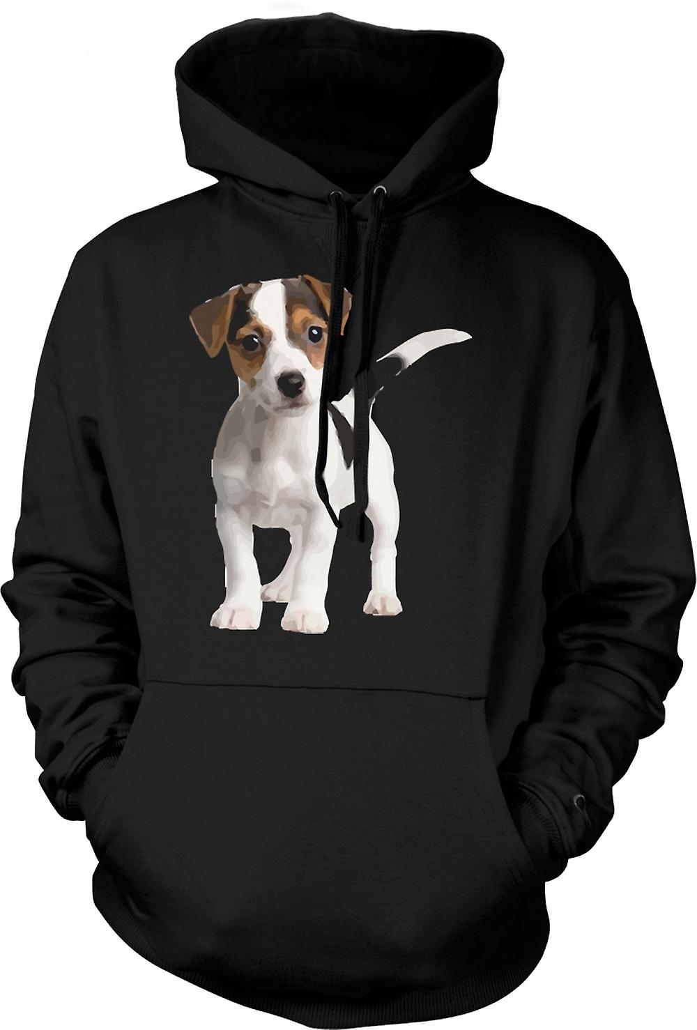 Mens Hoodie - Jack Russell Terrier chiot - mignon