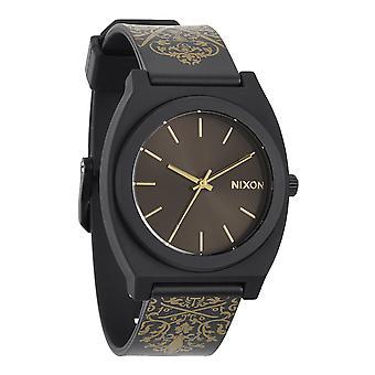 Nixon Time Teller P schwarz / Gold verziert (A1191881)
