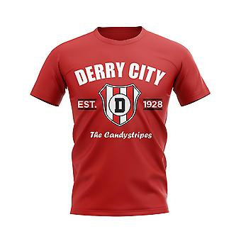 Derry City Established Football T-Shirt (Rosso)