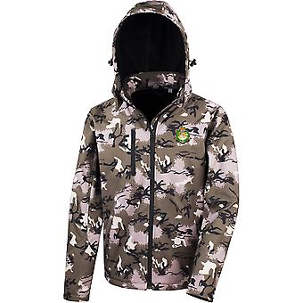 Royal Military Police - Licensed British Army Embroidered Performance Hooded Camo Softshell Jacket