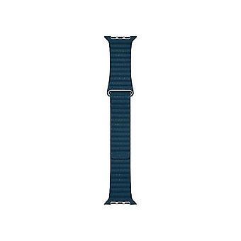 Apple 42mm loop leather belt cosmos blue