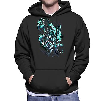 Naruto Deku Blue Montage My Hero Academia Men's Hooded Sweatshirt