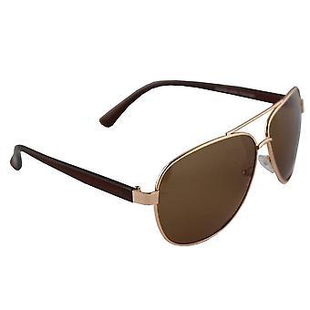 Sunglasses pilot polarizing glass golden brown FREE BrillenkokerS308_3