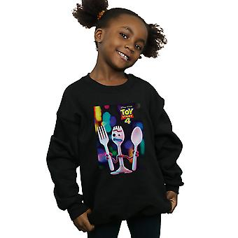 Disney Girls Toy Story 4 Forky Poster Sweatshirt