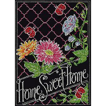 Home Chalkboard Counted Cross Stitch Kit-10
