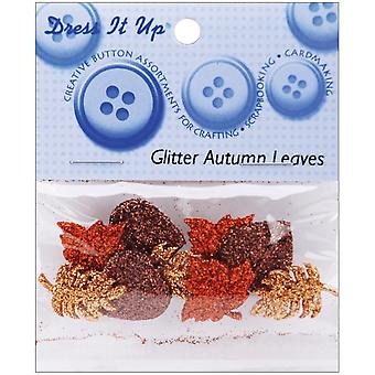 Dress It Up Embellishments Glitter Autumn Leaves Diubttn 4420